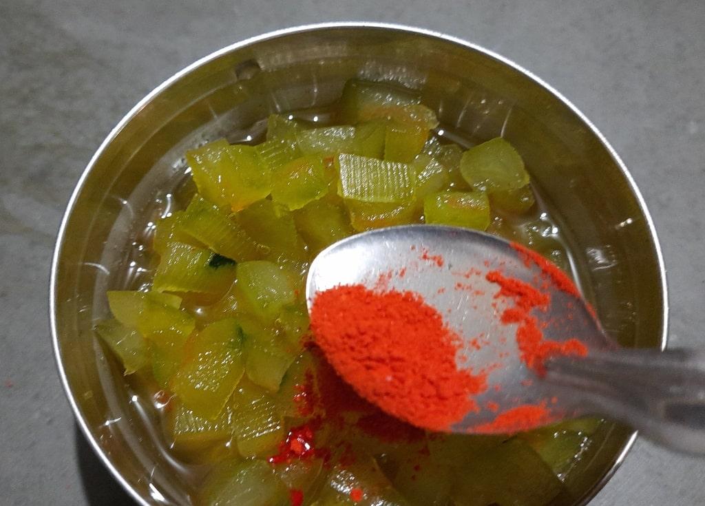 take out tutti frutti in bowl